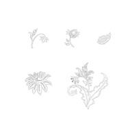 Paisley petals set