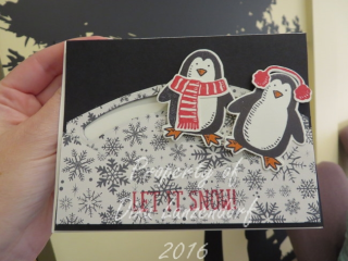 Snow Place slider penguin card, Inkin With DInk