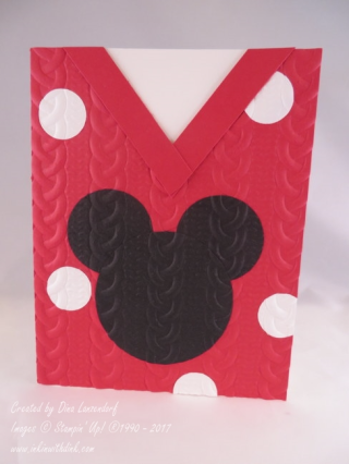 Mickey Mouse sweater card, Inkin With Dink