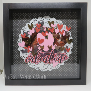 Valentine shadow box, Inkin With Dink