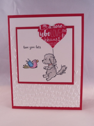 Bella & Friends stamp set, Valentine's card, Inkin With Dink
