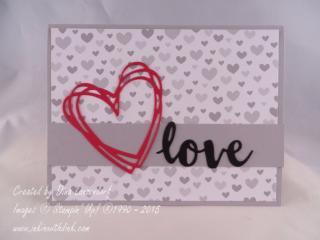 Valentine's Day card, Sunshine Wishes thinlits