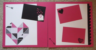 February scrapbook page
