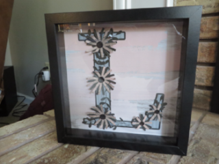 monogram shadow box, Inkin With Dink