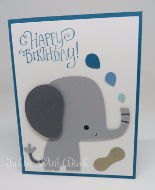 elephant card, Inkin With Dink