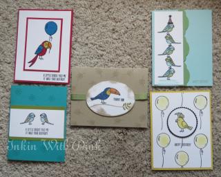 Bird Banter stamp set, Inkin With Dink
