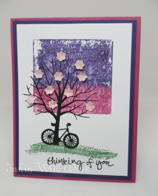 Sheltering Tree, Watercolor background with acrylic block, Inkin With DInk