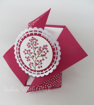 Diagonal Gate Fold card, Inkin With Dink