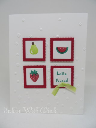 Fruit Basket stamp set, Inkin With Dink