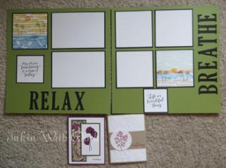 Inkin With Dink, scrapbook layout