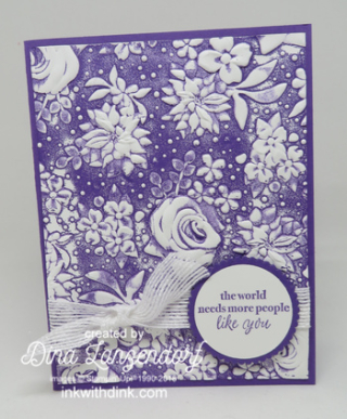 Inkin With Dink, Country Floral embossing folder